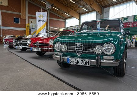 Paaren Im Glien, Germany - June 08, 2019: Large Family Car Alfa Romeo Giulia. Die Oldtimer Show 2019