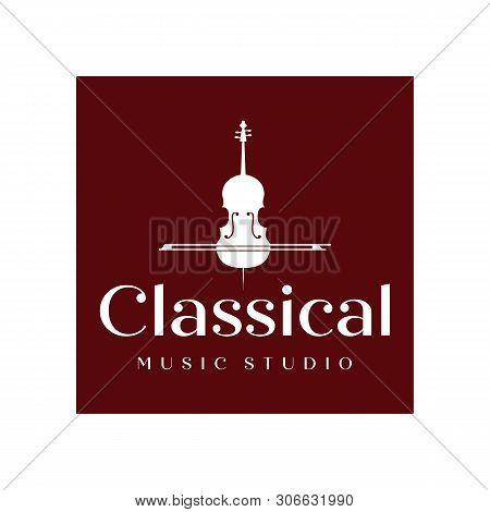 Vintage Violin Or Cello Logo Design Inspiration , Classic And Luxury Logo Designs