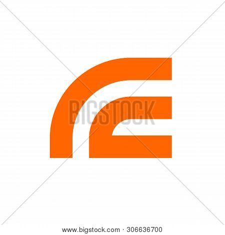 Abstract Letter Rc Or Cr Logo Template, Orange Letter R And C Symbol - Vector