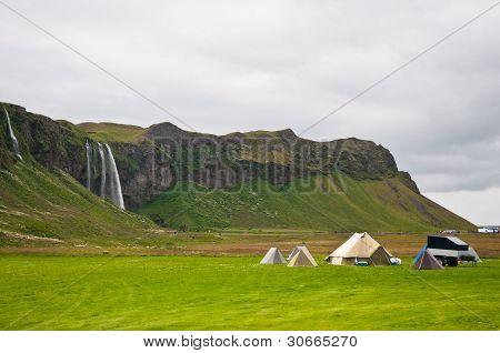 Camping Near The Waterfall