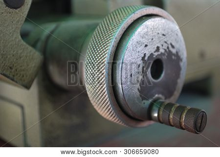 The Handle Of The Small Metal Cutter Serves To Move The Metal Toward The Metal Cutting Blade.