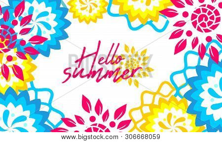 Abstract Color Background Hallo Summer, Summer Time