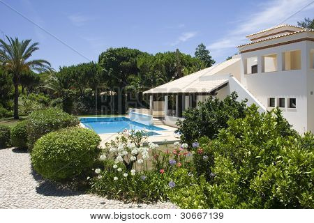 Beautiful villa with a healthy garden and a refresh water pool at Algarve, south of Portugal poster