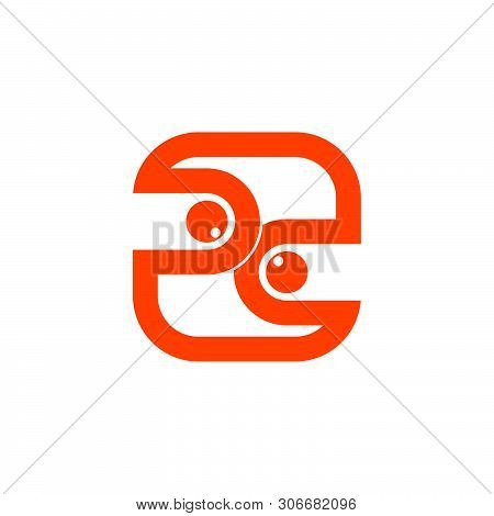 Letter Pd Abstract Geometric Line Square Logo