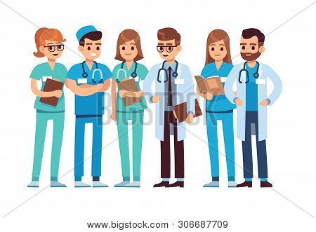Doctors Set. Medical Staff Team Doctor Nurse Therapist Surgeon Professional Hospital Workers Group M