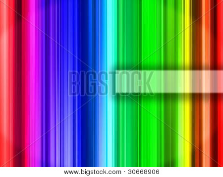 Abstract rainbow color vertical bars with a space for custom label poster