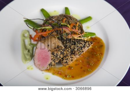 Sesame Crusted Tuna Steak