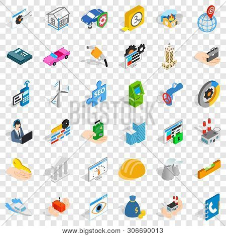 Unrest Icons Set. Isometric Style Of 36 Unrest Vector Icons For Web For Any Design