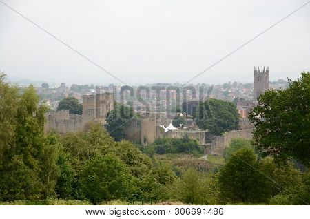 A View Over Ludlow, A Pretty Market Town In Shropshire, England