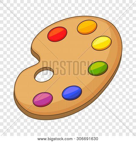 Art Palette Icon. Cartoon Illustration Of Art Palette Vector Icon For Web