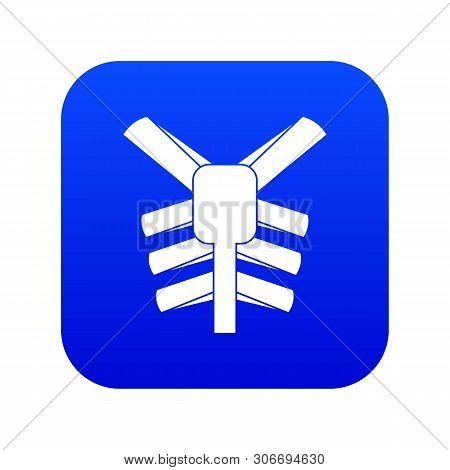 Human Thorax Icon Digital Blue For Any Design Isolated On White Vector Illustration