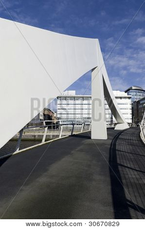Squiggly Foot Bridge And Financial Quarter