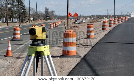 Construction Level and rod