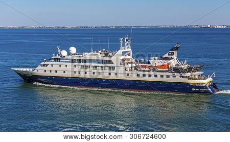 Lisbon, Portugal - September 28, 2016: The Mv Orion Was Renamed National Geographic Orion In March 2