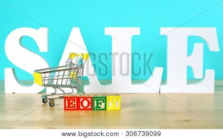 End Of Financial Year Sales Shopping Concept