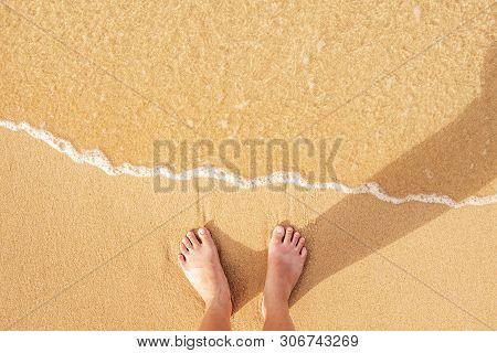 Women Standing On Beach , Summer Concept Beach