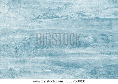 Light Gray Blue Green Paint Stains On Canvas. Abstract Illustration With Grey Blots On Soft Backgrou
