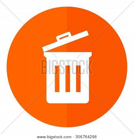 Save Download Preview Trash Bin Icon Isolated On White Background From Office Collection. Trash Bin