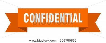 Confidential Ribbon Sticker. Confidential Sign. Confidential Banner