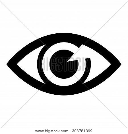 Save Download Preview Eye Icon, Visibility Icon Isolated On White Background. Eye Icon, Visibility I