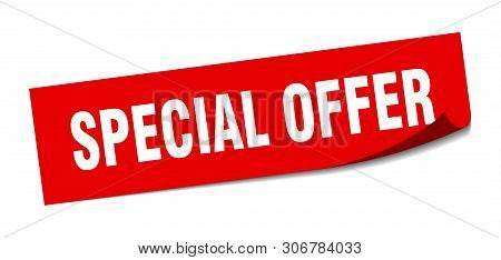 Special Offer Square Sticker. Special Offer Sign. Special Offer Banner