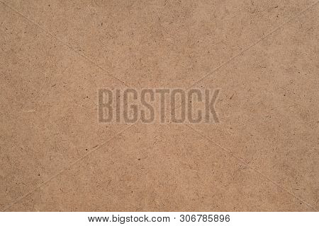 Construction Material. Brown Plywood Texture Abstract Art Background. Solid Color Ldf Surface. Empty