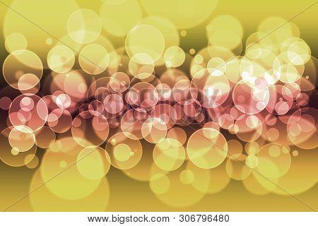 Pastel Colors Defocused Bokeh Pattern Wallpaper. Abstract Blurred Background.