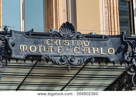 Monte Carlo, Monaco - June 04, 2019: Casino Building Facade In A Sunny Summer Day In Monte Carlo, Mo