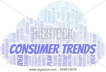 Consumer Trends Word Cloud. Wordcloud Made With Text Only.