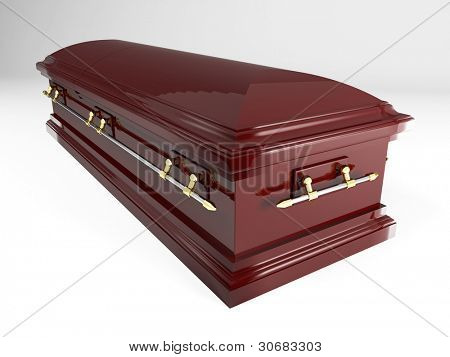 3d image of classic coffin