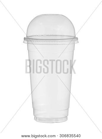 Plastic Cup Disposable Glass (with Clipping Path) Isolated On White Background