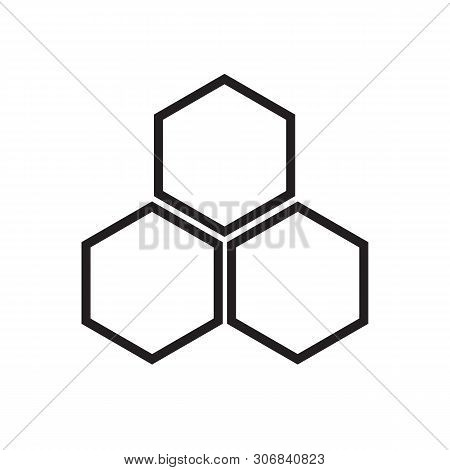 Honeycomb Icon On White Background. Flat Style. Honeycomb Icon For Your Web Site Design, Logo, App,