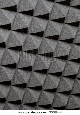 Background image of recording studio sound dampening acoustical foam. poster