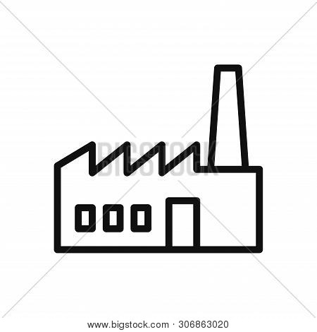 Factory Icon Isolated On White Background. Factory Icon In Trendy Design Style. Factory Vector Icon