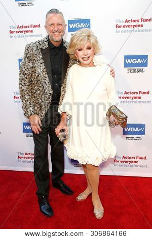 LOS ANGELES - JUN 9: Keith McNutt, Ruta Lee at The Actors Fund's 23rd Annual Tony Awards Viewing Gala honoring Lily Tomlin at the Skirball Cultural Center on June 9, 2019 in Los Angeles, CA