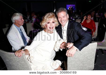LOS ANGELES - JUN 9: Ruta Lee, Kevin Spirtas  at The Actors Fund's 23rd Annual Tony Awards Viewing Gala honoring Lily Tomlin at the Skirball Cultural Center on June 9, 2019 in Los Angeles, CA