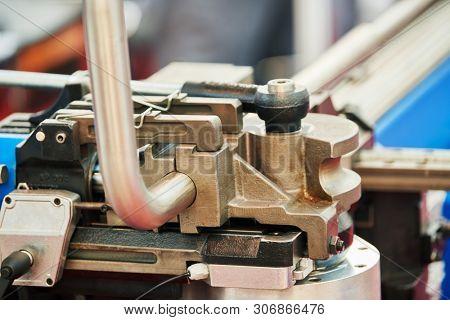 tube bending. industrial bender equipment machine for metal pipe bending.