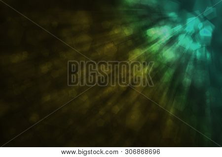 Abstract Defocused Bokeh Pattern Wallpaper. Blurred Background.