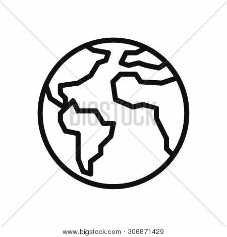Earth Planet Icon Isolated On White Background. Earth Planet Icon In Trendy Design Style. Earth Plan