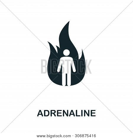 Adrenaline Icon Symbol. Creative Sign From Mindfulness Icons Collection. Filled Flat Adrenaline Icon