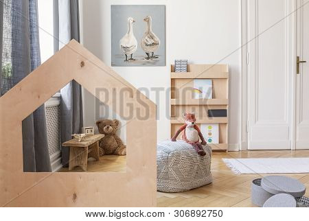 Real photo of kid's playroom in tenement house poster