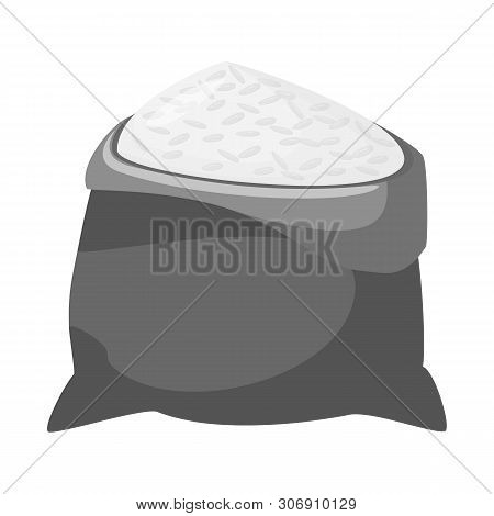 Vector Illustration Of Bag And Rice Symbol. Collection Of Bag And Wholesale Vector Icon For Stock.