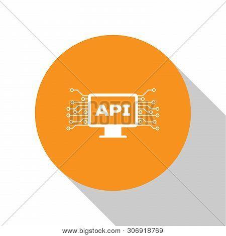 White Computer Api Interface Icon Isolated On White Background. Application Programming Interface Ap
