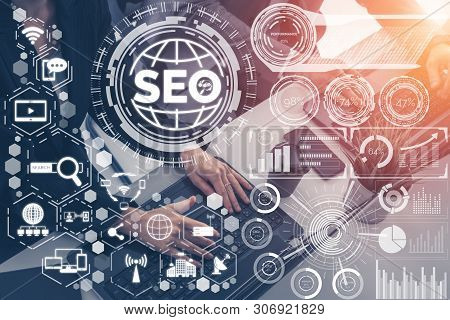 Seo Search Engine Optimization Business Concept.