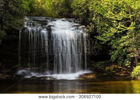 Schoolhouse Falls In Nantahala National Forest In North Carolina, United States