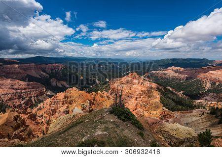 Chessmen Ridge Overlook In Cedar Breaks National Monument In Utah, United States