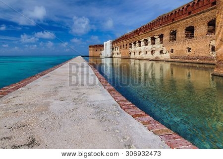 Fort Jefferson Exterior In Dry Tortugas National Park In Florida, United States
