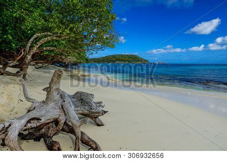 Hawksnest Bay In Virgin Islands National Park On The Island Of St. John, United States