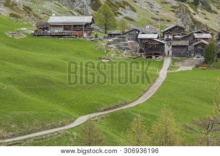Hiking Path From Furi To Zermatt, Switzerland