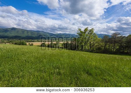 Cades Cove In Great Smoky Mountains National Park In Tennessee, United States